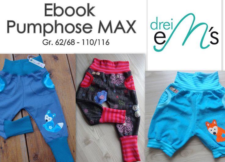 ebook Pumphose MAX mit Taschen 62/68-110/116 von dreiems-Materialshop ...