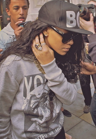 "Rihanna has S.W.A.G....The original definition of swag is ""an ornamental festoon of flowers, fruit, and greenery."""
