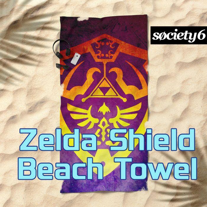 SOLD! Zelda Shield II Beach Towel. #legendofzelda #legendofzeldabeachtowel  #beachtowel #society6 #summer2017 #scardesign #giftsforhim #giftsforher #beach #summergifts