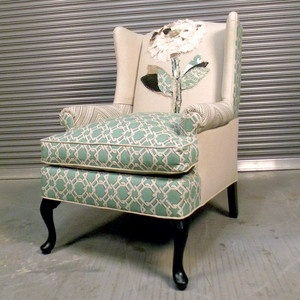 108 Best Upholstery: DUAL FABRICS Images On Pinterest | Chairs, Wing Chairs  And Wingback Chairs
