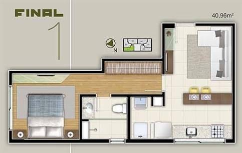 Resultado de imagem para casas pequenas 1 quarto