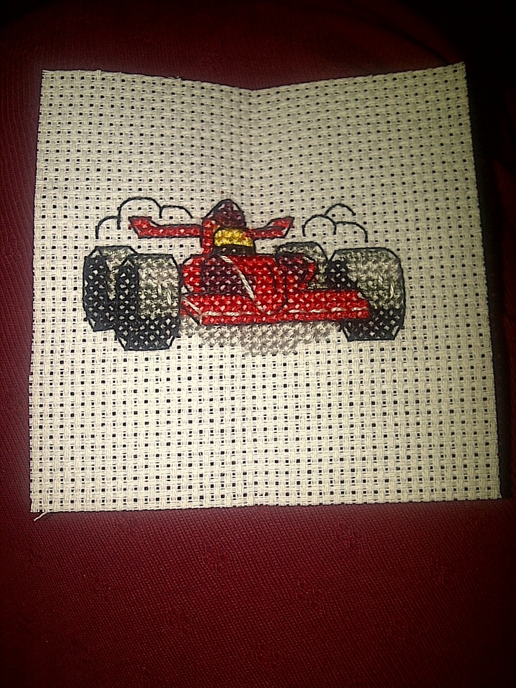 Small Racing Car Cross Stitch Cross Stitch Cross