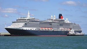 Queen Victoria. Ιδιοκτησία: Carnival Corporation & plc. Διαχείριση: Cunard Line. Παρθενικό ταξίδι στις 11/12/2007. 90.049GT ~ 294 μ.μ. ~ 36,60 μ.πλάτος ~ 16 κατ/τα ~ 23,7knots ~ 2.014 επ. ~ 900 α.πλ.