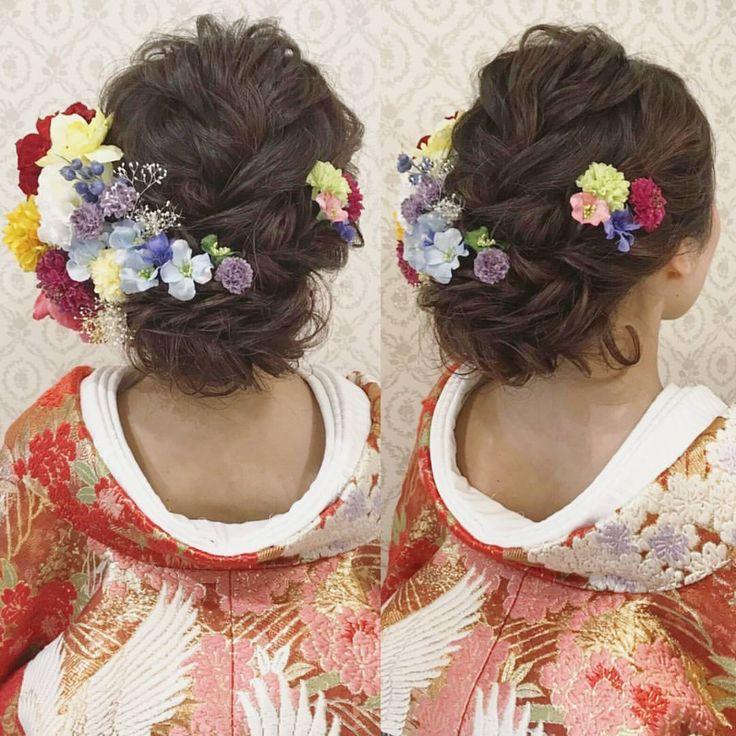 結婚式の前撮り 和装ロケーション撮影のお客様 波ウェーブかけて 編み込みやロープ編みの下めアップ 人気スタイルです♪ 沢山のお花を付けて華やかに♪ #ヘア #ヘアメイク #ヘアアレンジ #結婚式 #結婚式ヘア #スタジオ撮影 #色打掛 #バニラエミュ #セットサロン #ヘアセット #アップスタイル #東海プレ花嫁 #プレ花嫁 #フォトウェディング #前撮り #着物ヘア#ロケーション撮影#結婚式準備 #ウェディングドレス #お呼ばれヘア#2017夏婚 #2017春婚 #結婚準備#振袖ヘア#日本中のプレ花嫁さんと繋がりたい #2017秋婚 #振袖 #花嫁ヘア#和装ヘア#2017冬婚