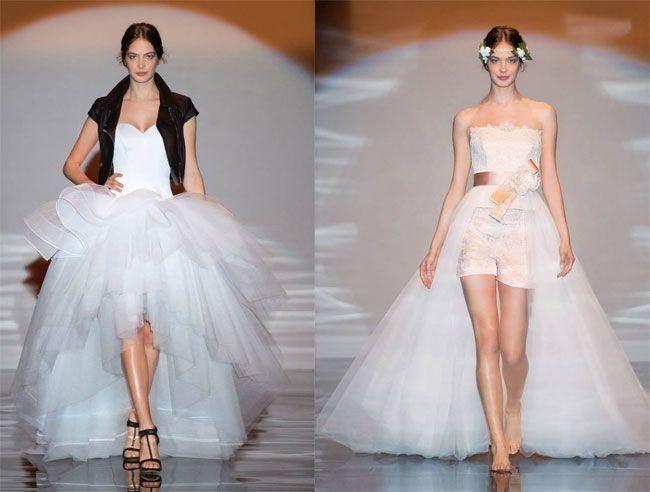 Atelier Aimée abiti da sposa 2016, Tendenza sposa 2016, Abiti da sposa asimmetrici 2016, Abiti da sposa con short 2016