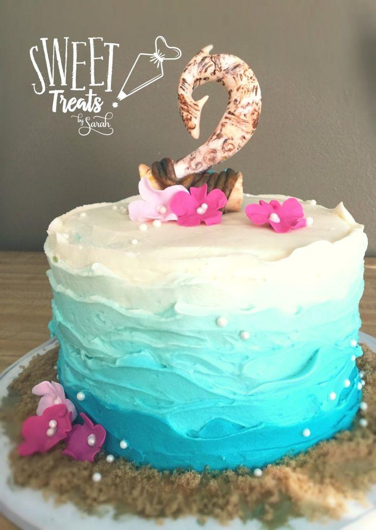 Moana smash cake #Moana #magicalfishhook #moanaparty