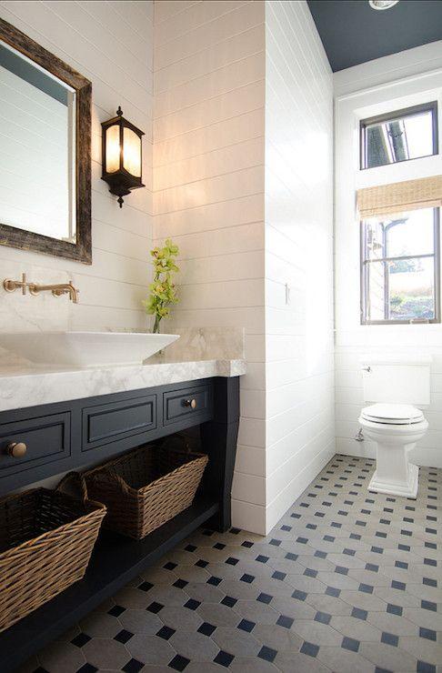 Navy Vanity Sink, Transitional, Bathroom, Benjamin Moore Maritime White, TTM Development