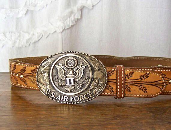Vintage Belt Buckle U.S. Air Force Solid Brass Belt Buckle by