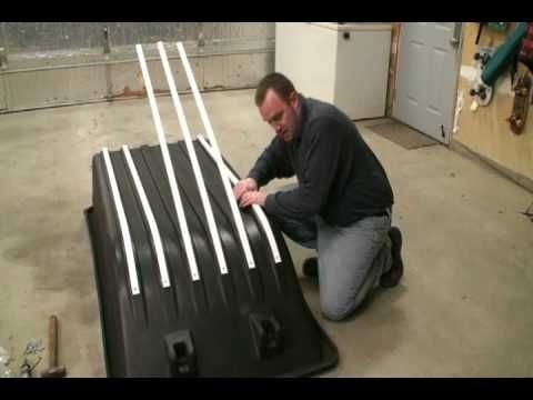 Ultimate Portable Ice Fishing House Build Series: The Art of Hyfax Runner/Glides Installation - YouTube