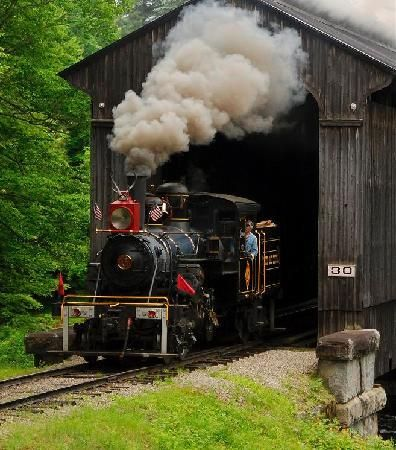 Clark's Trading Post and the White Mt. Central RR: Climax and covered bridge
