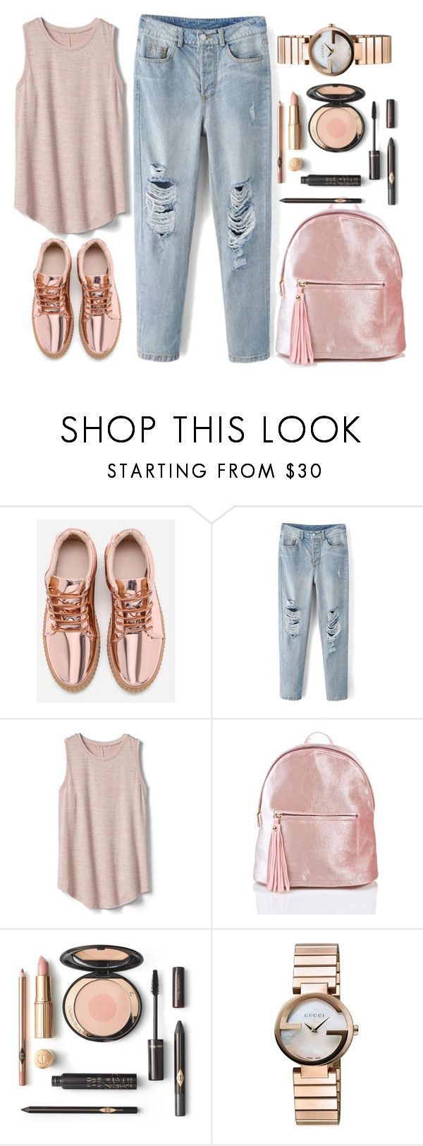 """""""street style"""" by ecem1 ❤ liked on Polyvore featuring Gap and Gucci"""