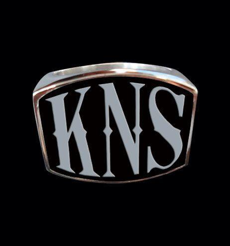 Sterling Silver KNS 3 Letter Ring from Jax Biker Jewellery by DaWanda.com
