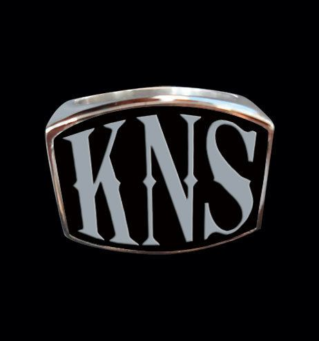 Sterling Silver KNS 3 Letter Ring from Jax Biker Jewellery by DaWanda.com