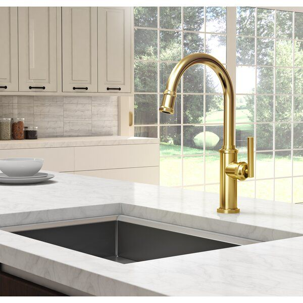 Heaney Pull Down Single Handle Kitchen Faucet In 2021 Single Handle Kitchen Faucet Newport Brass Kitchen Faucet