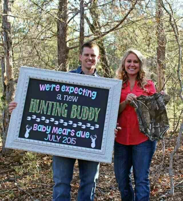 Camo baby announcement