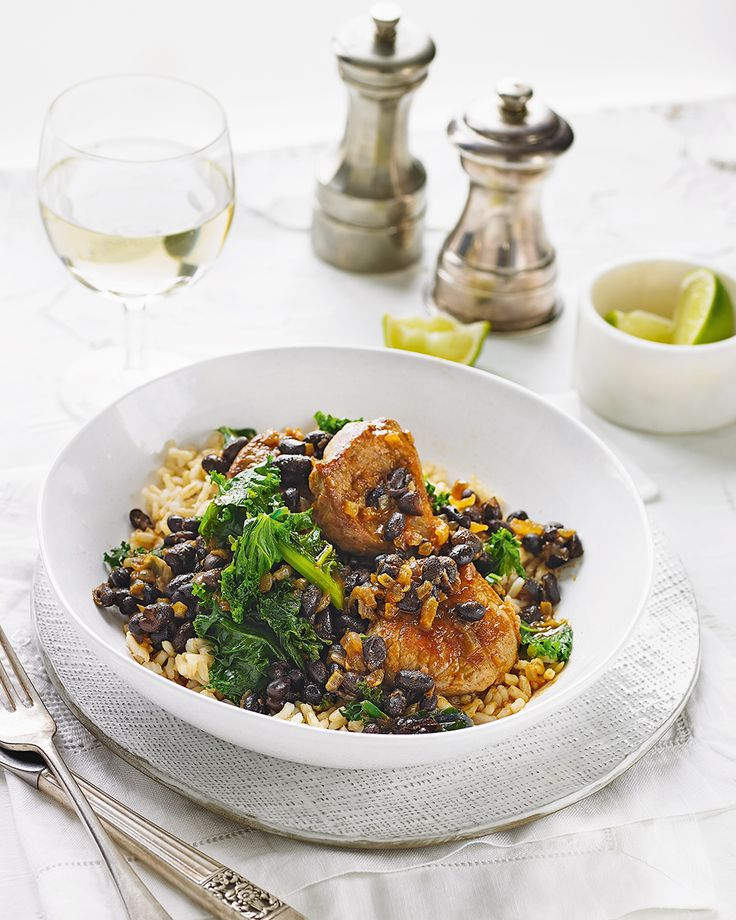 Smoky pork and black bean stew with kale - delicious. magazine