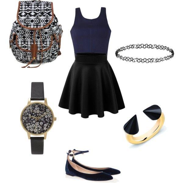 school outfit #2 by paty-porutiu on Polyvore featuring polyvore fashion style Ally Fashion Vita Fede Olivia Burton Dorothy Perkins