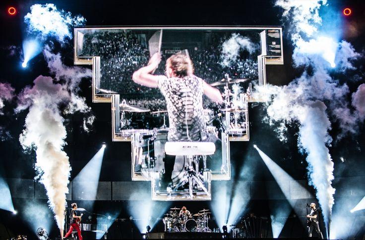 Stadio Olímpico, Rome, July, 2013. By: Hans Peter Van Velthoven.  #Muse #Live #Gig
