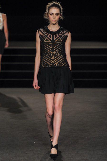 Drop Waist Geometric Cutouts Mini Black Dress BestPiece Sass & Bide Fall