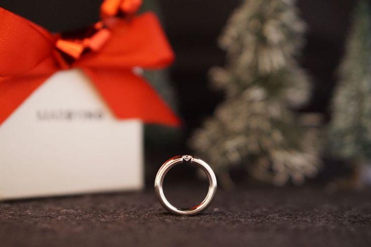 Toller Spannring - wunderschöner Diamant in sehr guter Qualität schwebend in Weißgold gefasst! #Spannring#Ehering#Geschenk#Weihnachten#Gold#Platin#Diamant#Brillant#Marrying#München