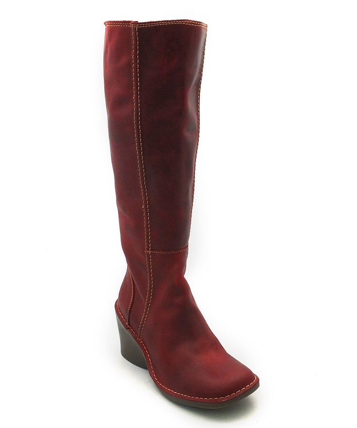 Red Erika Boot by FLY London.... on sale today at zulily