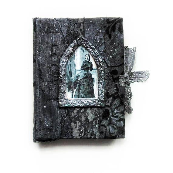 Gothic Journal A6 Victorian Handmade Notebook Black Secret