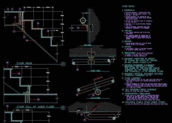 Stairs Plan Cad Block Woodworking Projects Plans