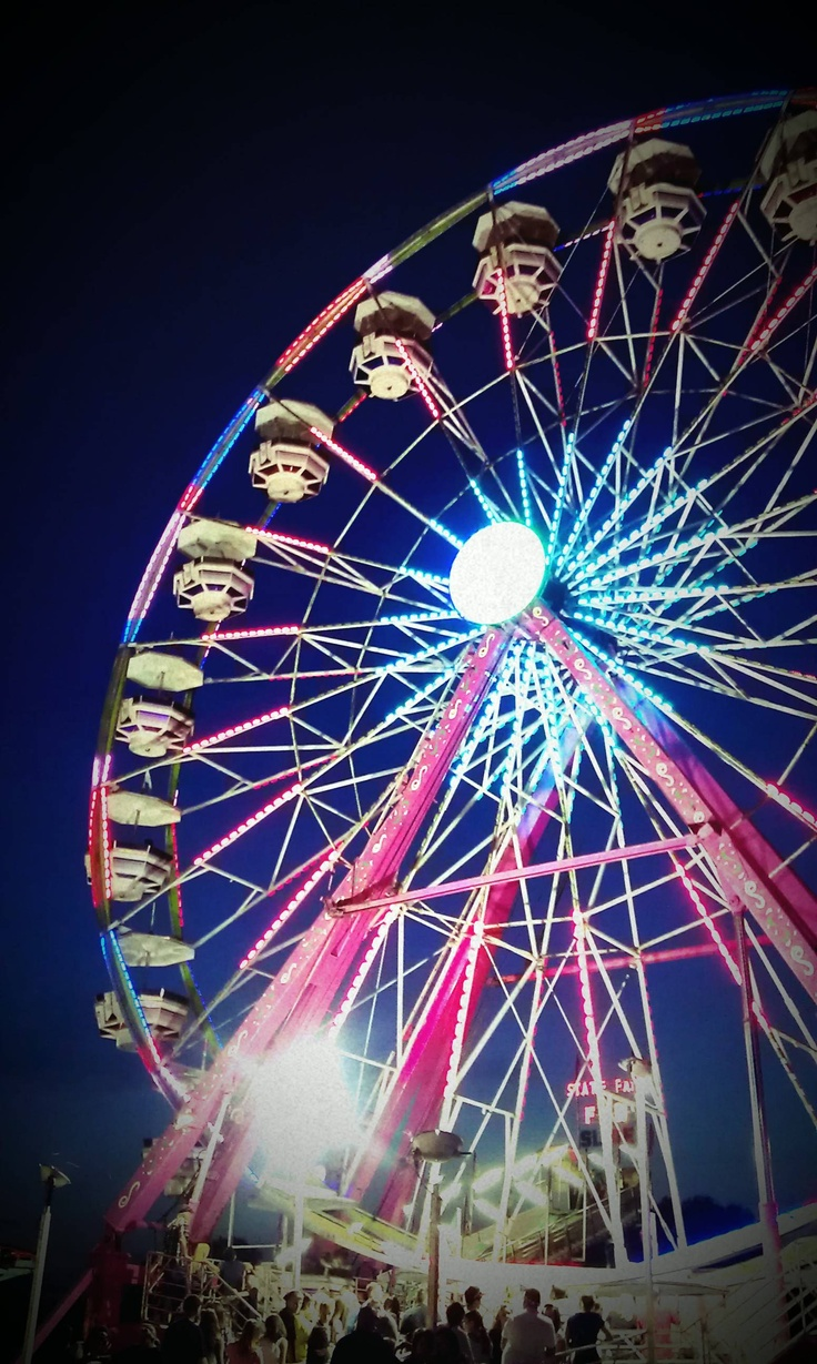 The fair is something I look forward to every year. I love the people watching and seeing how everyone comes together. I love the thrill of riding the roller coaster rides and the adreneline you feel. Funnel cakes and fried food is always a nice treat. Looking forward to the veiw from the top of the Farris wheel