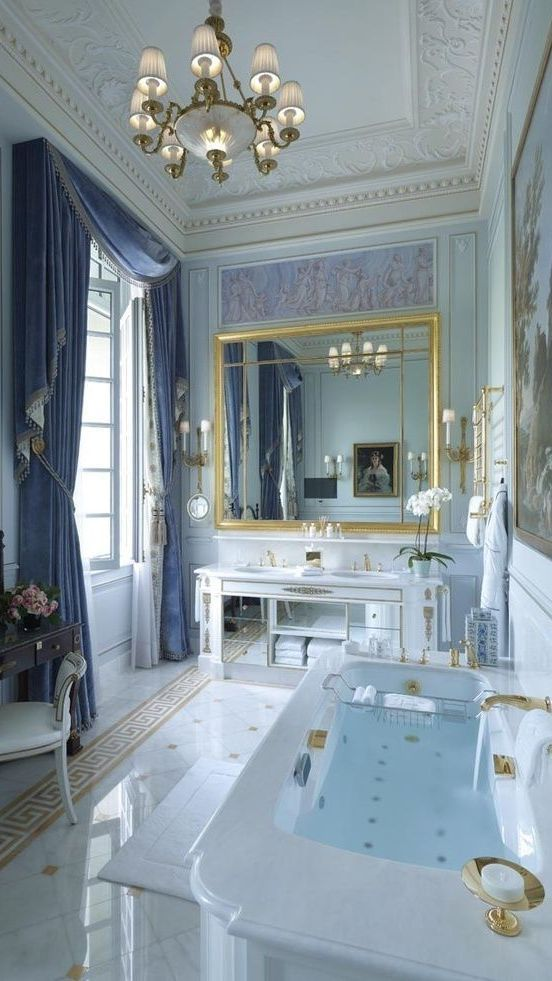 Live life on the luxurious side in this gorgeous marble for Periwinkle bathroom ideas