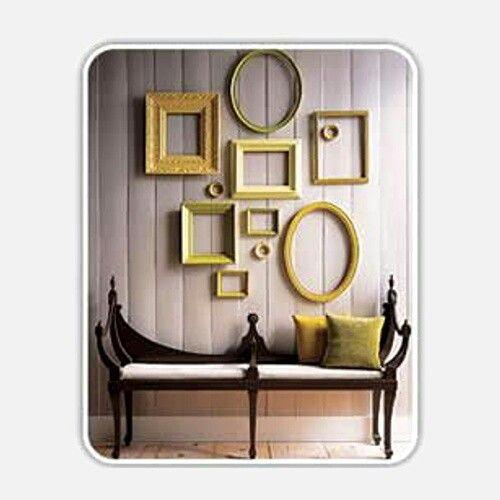 Idea!!! Topo y amarillo... Y marcos antiguos!!!