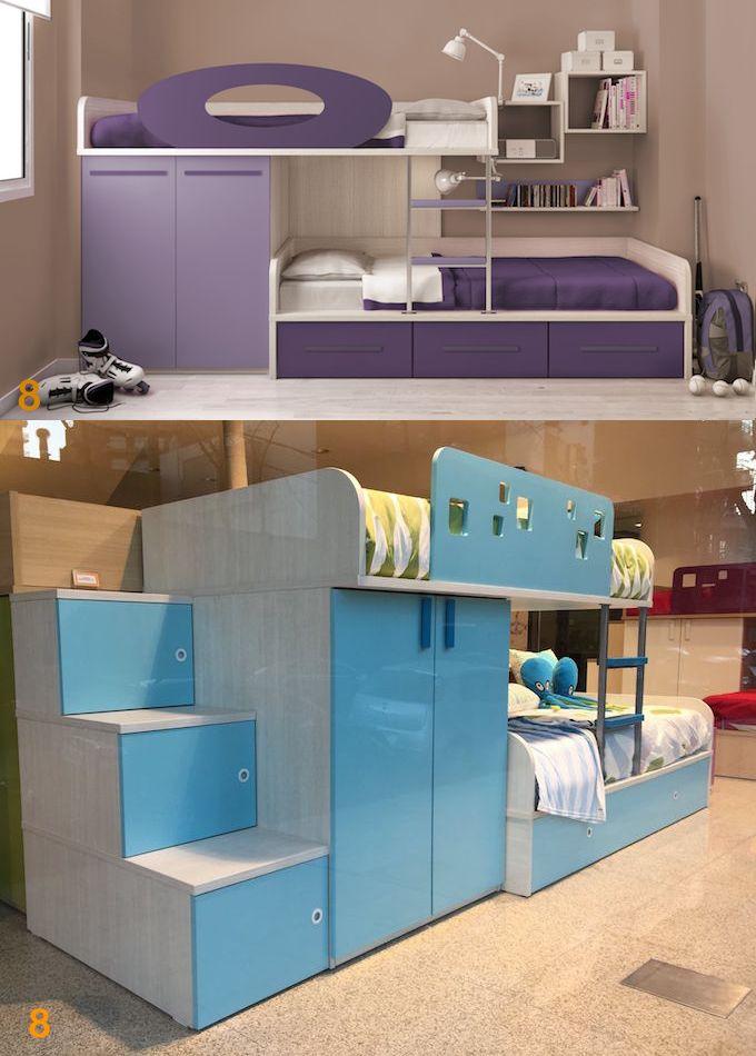 Mueble: ambientacion-muebles-juveniles-infantiles-escritorio-cama-alzada-biblioteca-aprovechamiento-del-espacio - AGIOLETTO, Muebles Infantiles, Muebles Juveniles