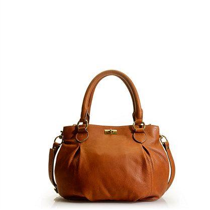 Brompton mini-hobo purse in cognac