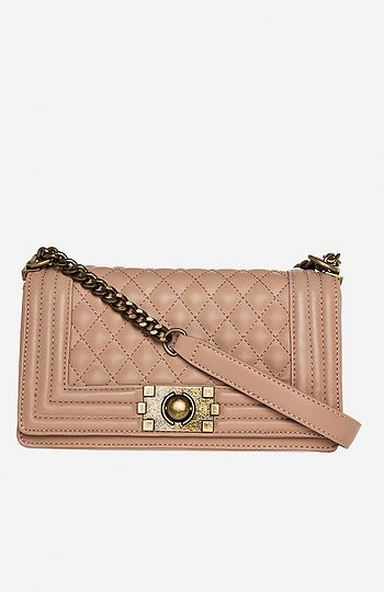 Classic Quilted Purse in Nude | DAILYLOOK $44.99
