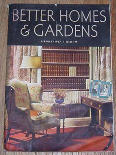 Better Homes Gardens Magazine. Better Homes And Gardens Magazine February  1937