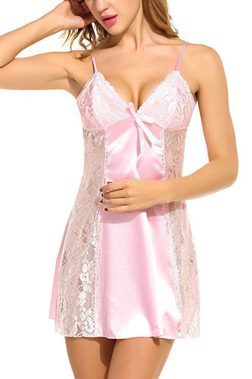 2fdd16824 Avidlove Women s Satin Nightgown Lace Sleepwear Chemises Long Slip at Amazon  Women s Clothing store