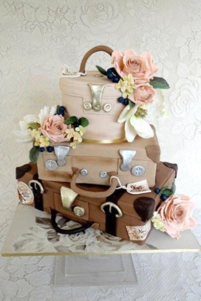 Luggage Wedding Cake Wedding Cakes Pinterest Cakes