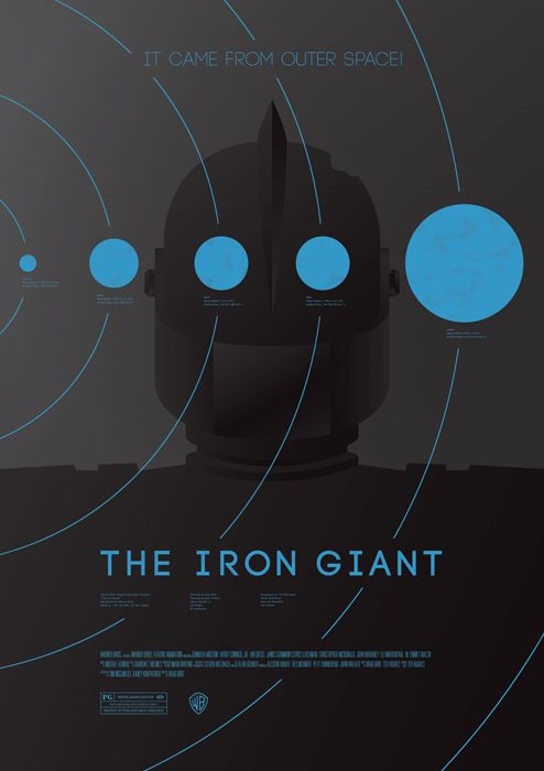 The Iron Giant poster. Minimalist. By Dee Choi, whose work I like quite a bit.