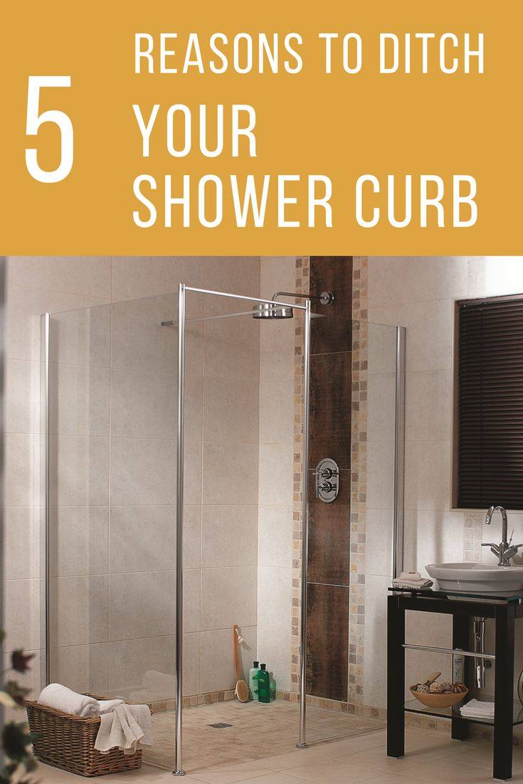 A shower curb actually limits the flexibility of your shower and makes it less safe. Get 5 practical reasons now is the time to ditch your shower pan threshold. | Innovate Building Solutions