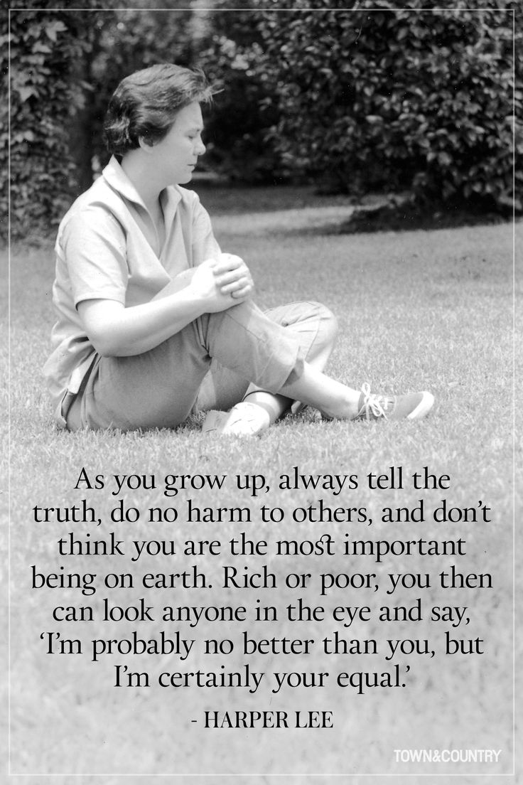 adulthood in to kill a mockingbird by harper lee Harper lee was the grade-school classmate of the young truman capote, with  whom she maintained a friendship well into adulthood (in 1966 capote.