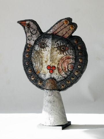 picassoesque sculpture by French ceramicist Roger Capron. Ref. Veniceclayartists.com