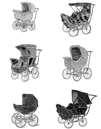 vintage baby carriages