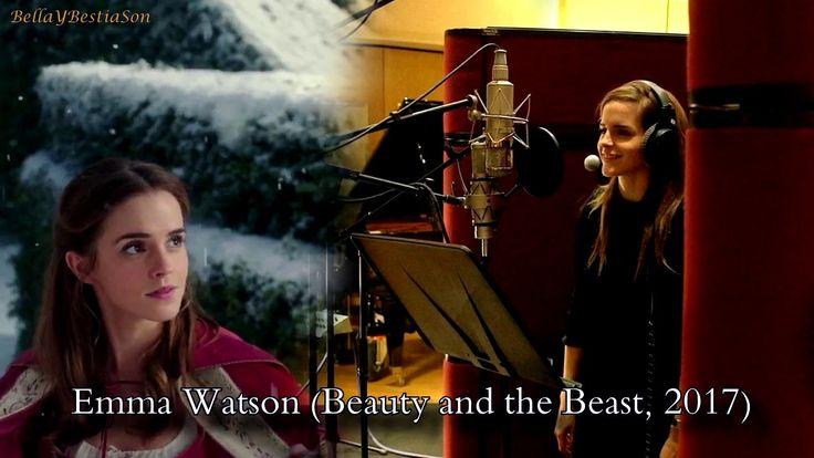 "Paige O'Hara, Susan Egan and Emma Watson singing ""Something There"""