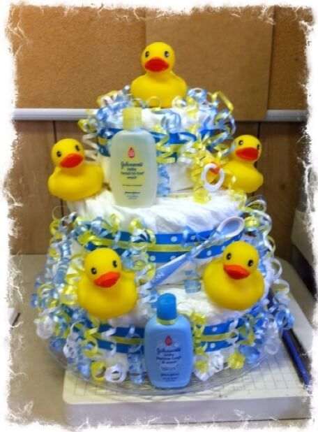 find this pin and more on diaper cakes rubber ducky baby shower