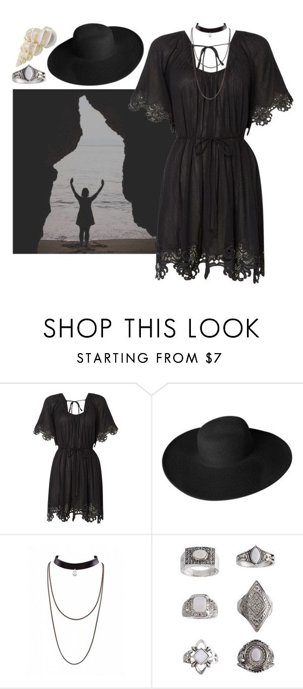 """""""Sea Witch"""" by septembrie ❤ liked on Polyvore featuring Seafolly, Dorfman Pacific, Topshop, goth, sea, witch and witchcraft"""
