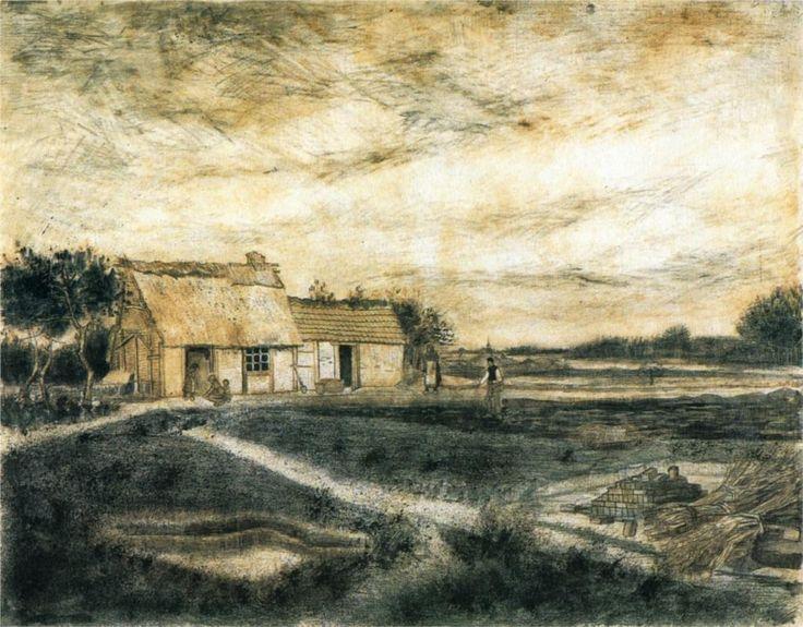 Street in Auvers-sur-Oise - Vincent van Gogh - WikiPaintings.org