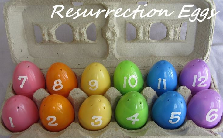 Resurrection Eggs is a simple, inexpensive activity for teaching children of all ages about the Resurrection.  12 plastic eggs each contain a symbol of the events leading up to the Resurrection of Christ, as well as a short description and a scripture reference. Happy Easter!