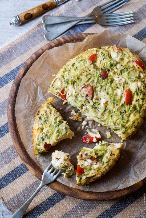 Frittata with Zucchini, Tomato, and Feta