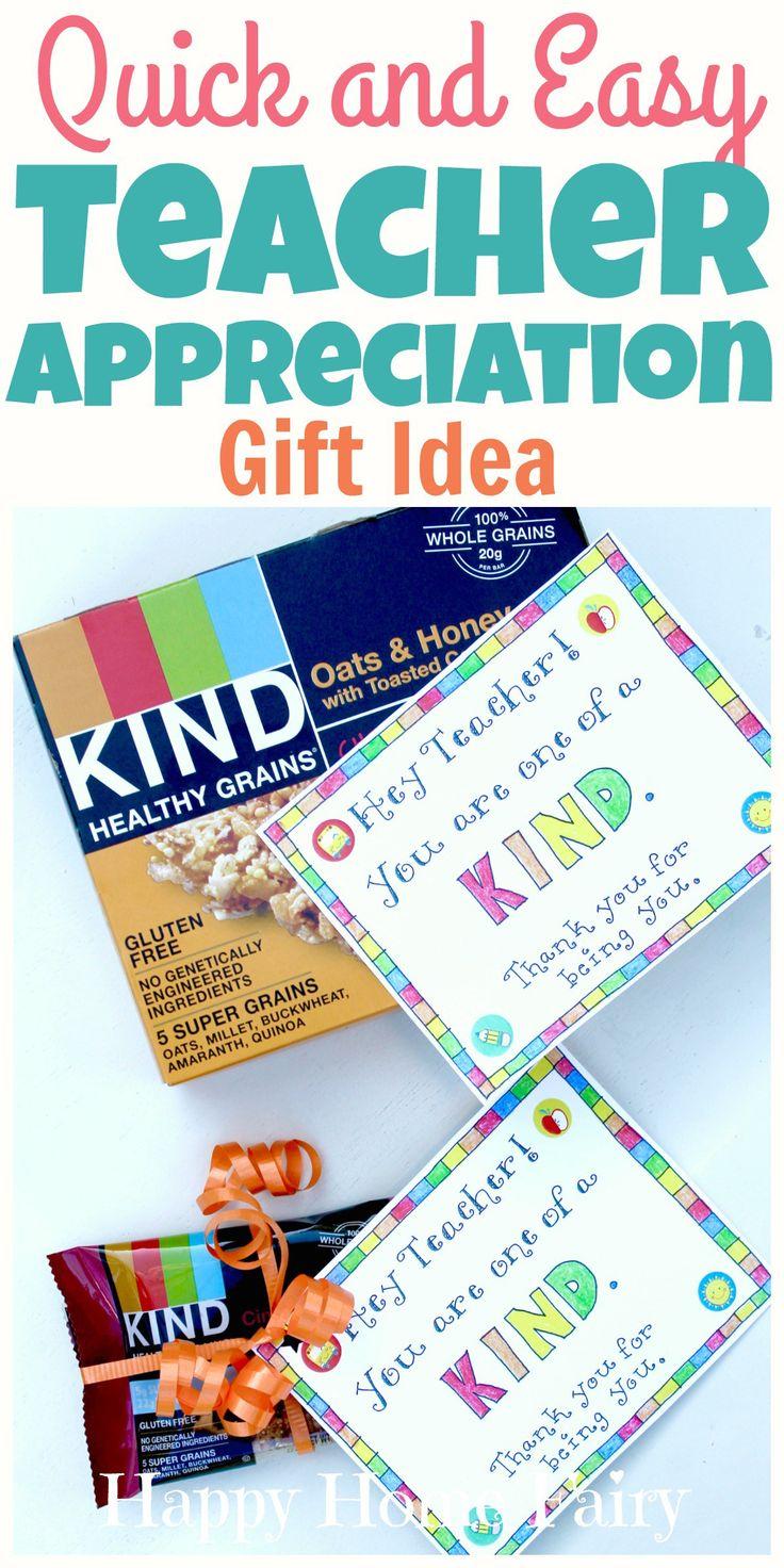 Scrapbook ideas for teachers - Last Minute Teacher Appreciation Gift Idea Free Printable