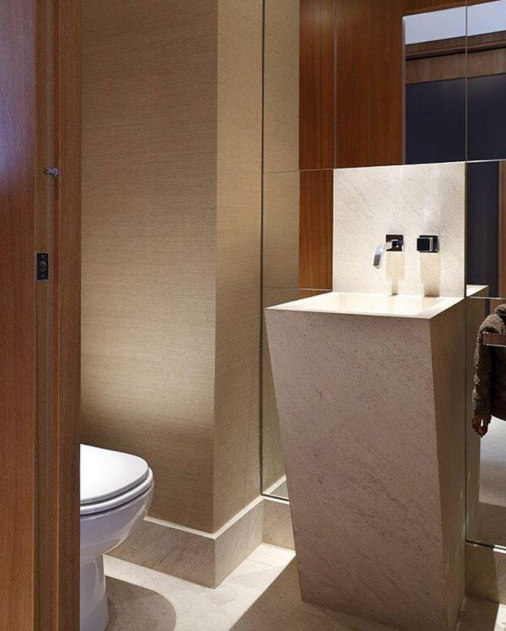 Lavabos pequenos com cubas de piso veja modelos lindos for Pisos modernos pequenos