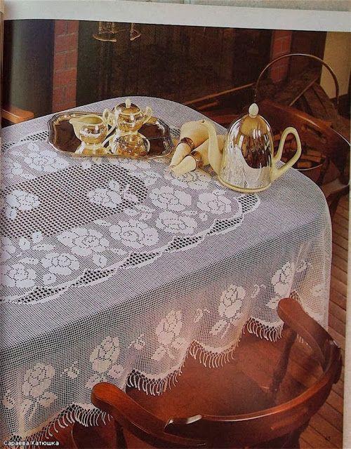 Вязание крючком Вязание Ремесленная: скатерть